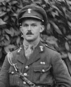 Lieutenant W J Menaul, later in the war, wearing the ribbon of the Military Cross