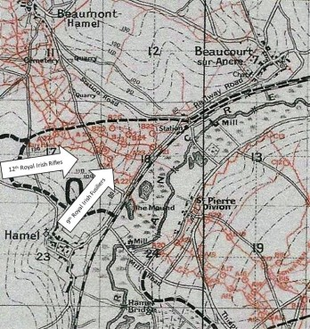 The Battle of Albert, July 1916, north of the River Ancre