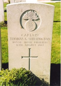 The grave of Captain Tom Shillington